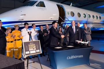 Specially equipped Gulfstream G550 for the Beijing Red Cross.