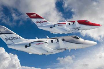 Two HondJets in formation