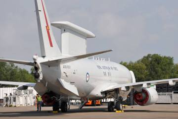 E-7A Wedgetail airborne early warning aircraft from the Royal Australian Air Force, PHOTO MARK WAGNER