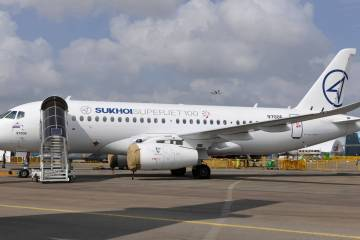 Sukhoi's Superjet 100 regional jet. Photo: Mark Wagner