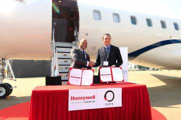 Andy Gill, Honeywell Aerospace, and Nick Houseman, of OJets