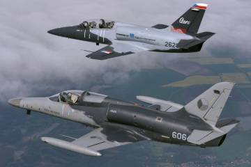 L-39NG and L-159 in formation flight