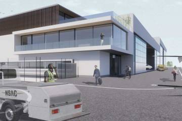 Artist rendering of the new North Sea Aviation Center FBO