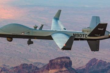 remote piloted aircraft flying