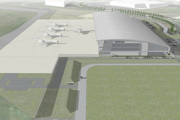 Gulfstream's planned factory-owned service center, TAG Farnborough