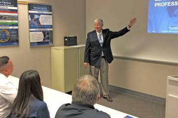 Company executives need training as well as pilots and mechanics, and FlightSafety International's Jeff Lee helps educate professionals through the LEAP curriculum.