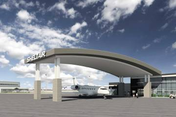 Artist rendering of the new Sheltair Denver FBO