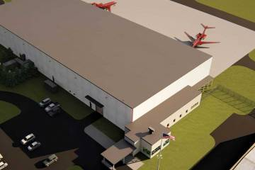 Artist rendering of Hangar 11 project at ABE