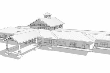 Artist rendering of the new Ocala general aviation terminal