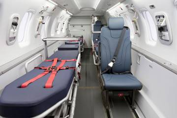 Pilatus PC-24 with aeromed interior