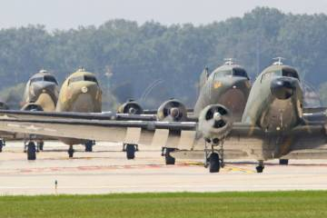 C-47's Taxiing
