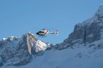 Kopter SH09 in flight