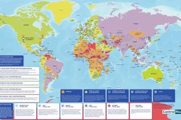 MedAire Travel Risk Map 2019