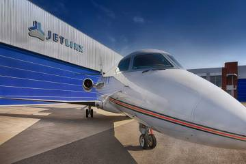 Jet Linx aircraft and hangar