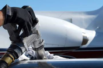refuelling a private jet