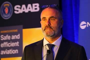 Jan Widerström, head of Saab's Avionics Systems unit. Photo: David McIntosh