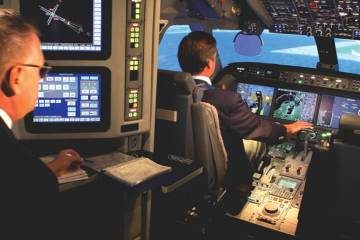 FlightSafety International G550 sim