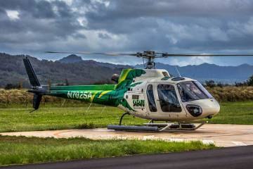 Airbus AS350 B2 operated by air tour firm Safari Helicopters