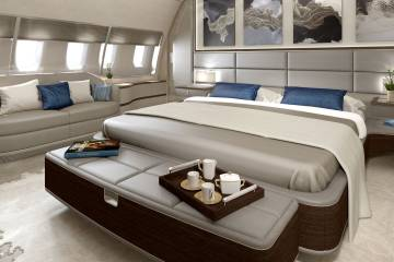 Jet Aviation is here showcasing its extensive interior capabilities.