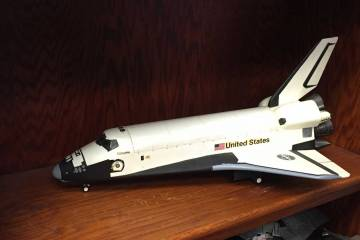 Model of space shuttle Columbia