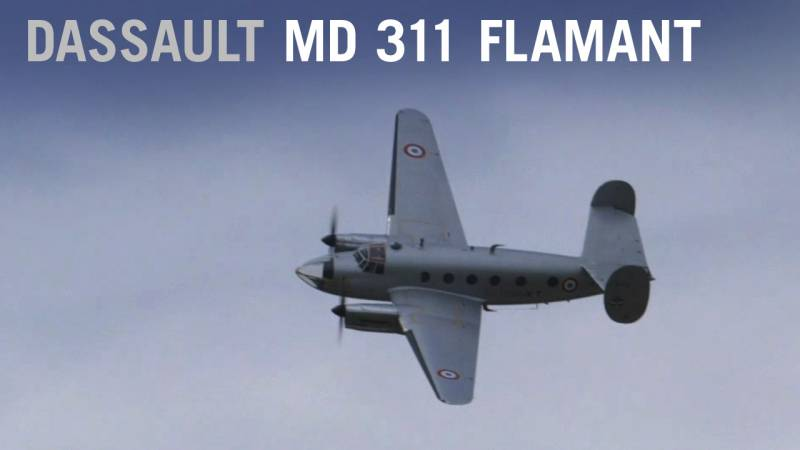 Dassault Flamant MD 311 Flies at the Paris Air Show