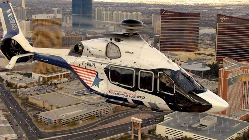 Airbus Helicopters H160 Arrives in Las Vegas for U.S. Demo Tour