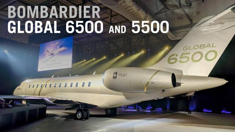 Bombardier Unveils New Global 6500 and 5500 Jets