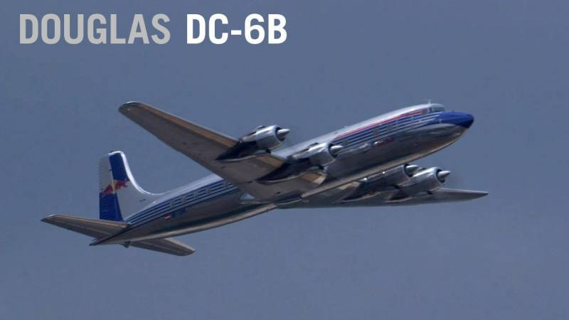Red Bull's Douglas DC-6B Thunders Over Farnborough