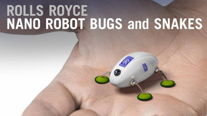 Rolls Royce Nano Robot Bugs and Snakes to Repair Jet Engine Innards