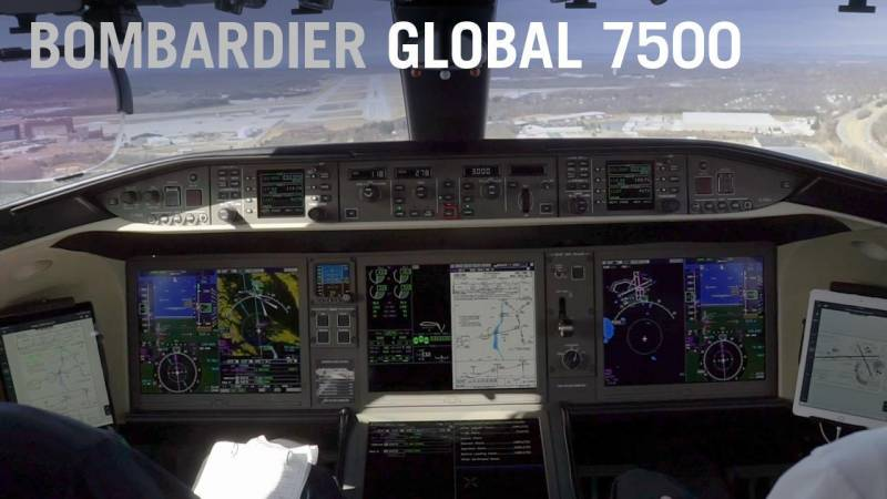 Landing the Bombardier Global 7500 (Cockpit View)