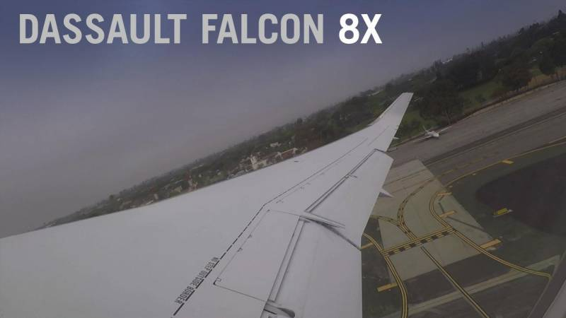Dassault Falcon 8X Takeoff from 3,500-ft SMO Runway to Set SMO to TEB Record