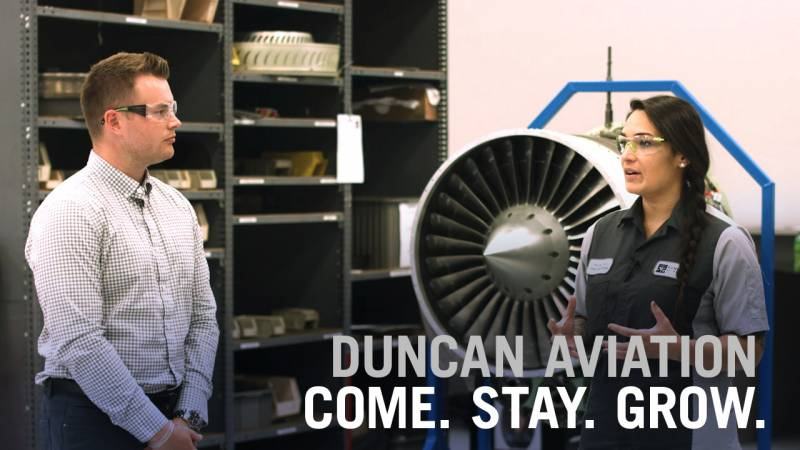 Duncan Aviation: Come. Grow. Stay.