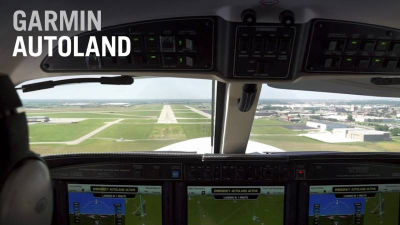 Garmin's Autoland Can Land an Airplane with an Incapacitated Pilot - AIN