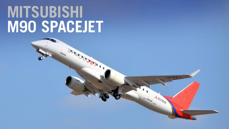 First Mitsubishi SpaceJet M90 in Final Configuration Takes Flight - AIN