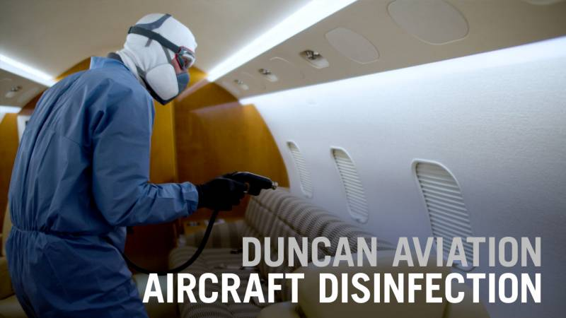 Duncan Aviation Aircraft Disinfection Service