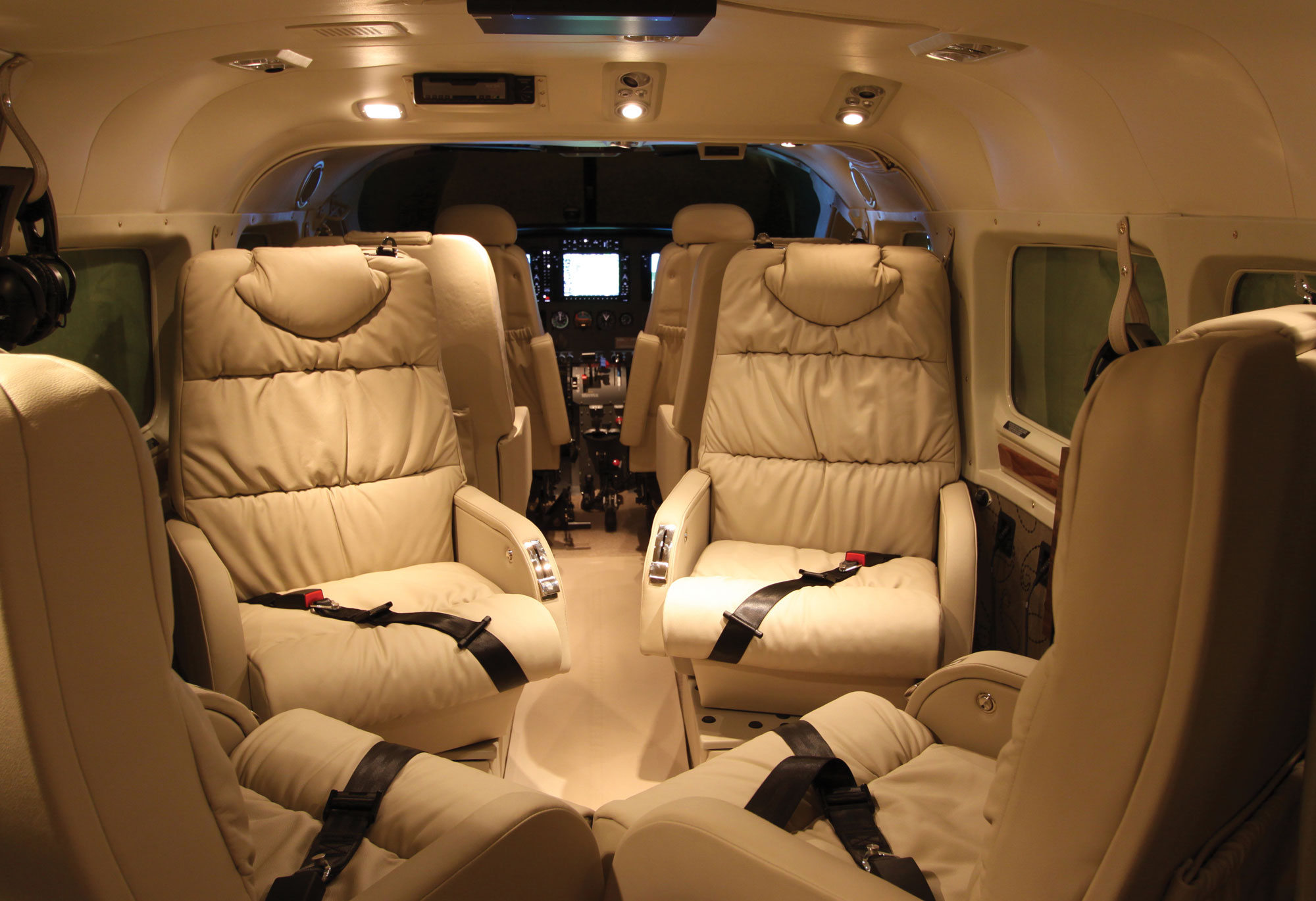 Wipaires Custom Interiors Include This Completion Of A Grand Caravan On Wipline Floats