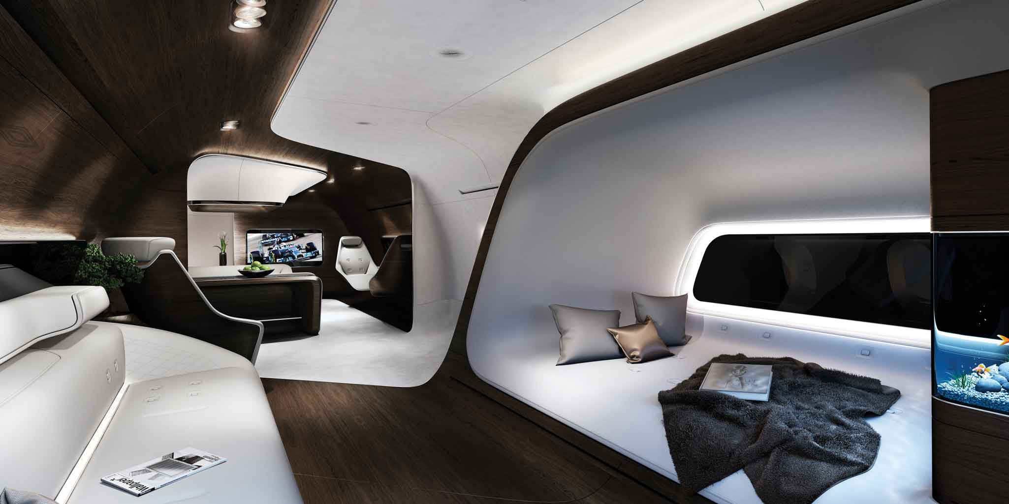 Lufthansa Technik Mercedes Benz Team On Vip Interiors