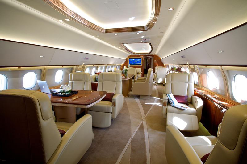 The ultimate in cabin luxury beauty and functionality for Large cabin business jets