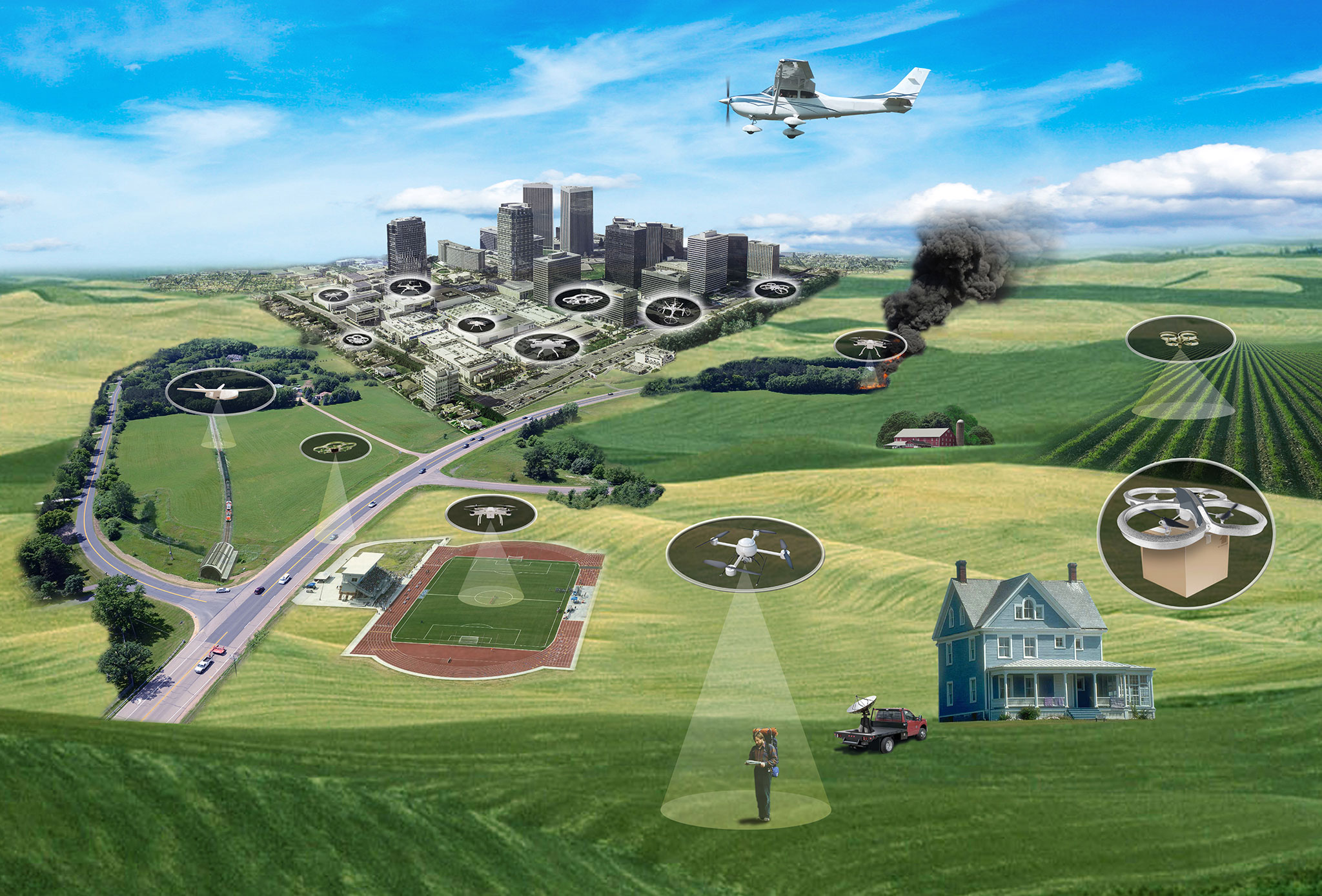 Nasa Drives Vision Of Air Traffic Management For Drones