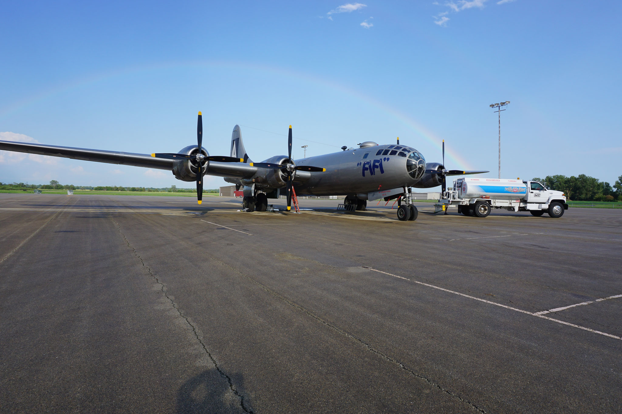 historic meeting of b-29s 'fifi' and doc | general aviation news