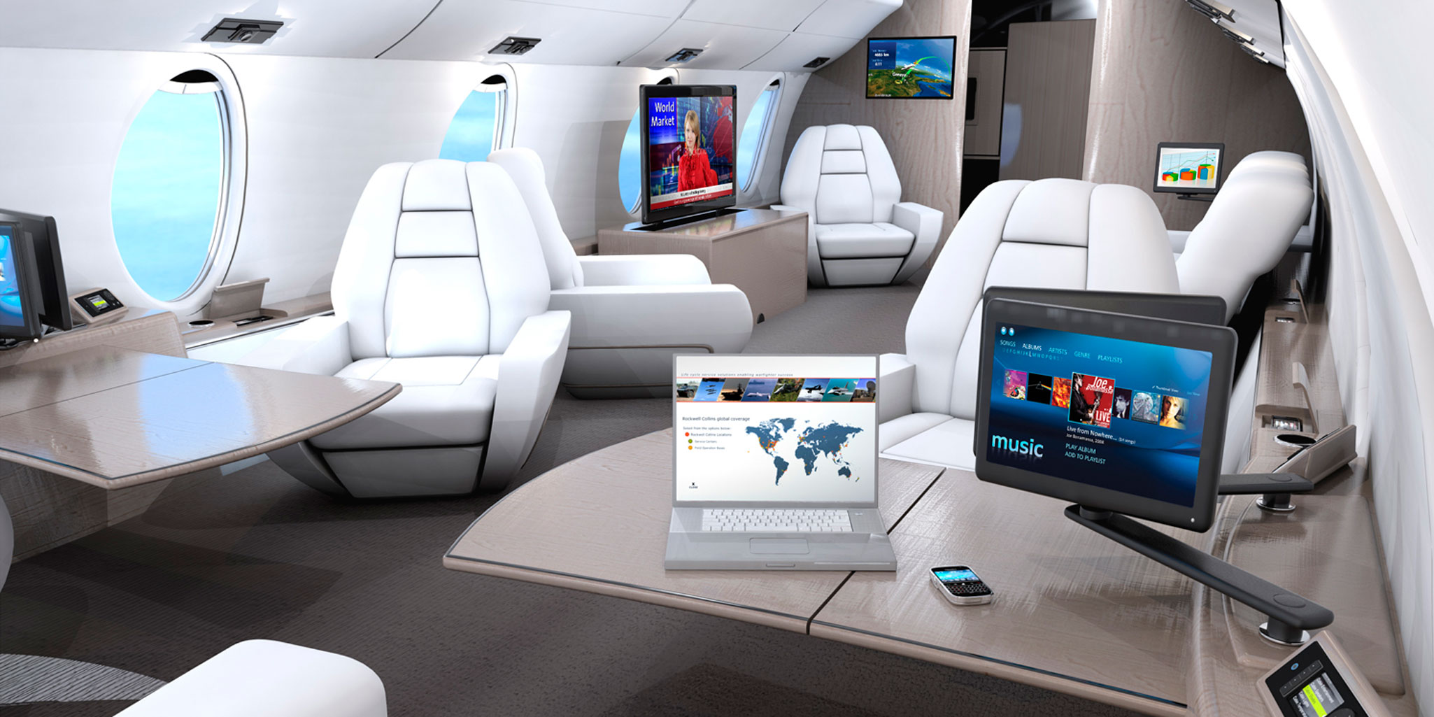 Rockwell Collins Showcases Cabin Technology Business