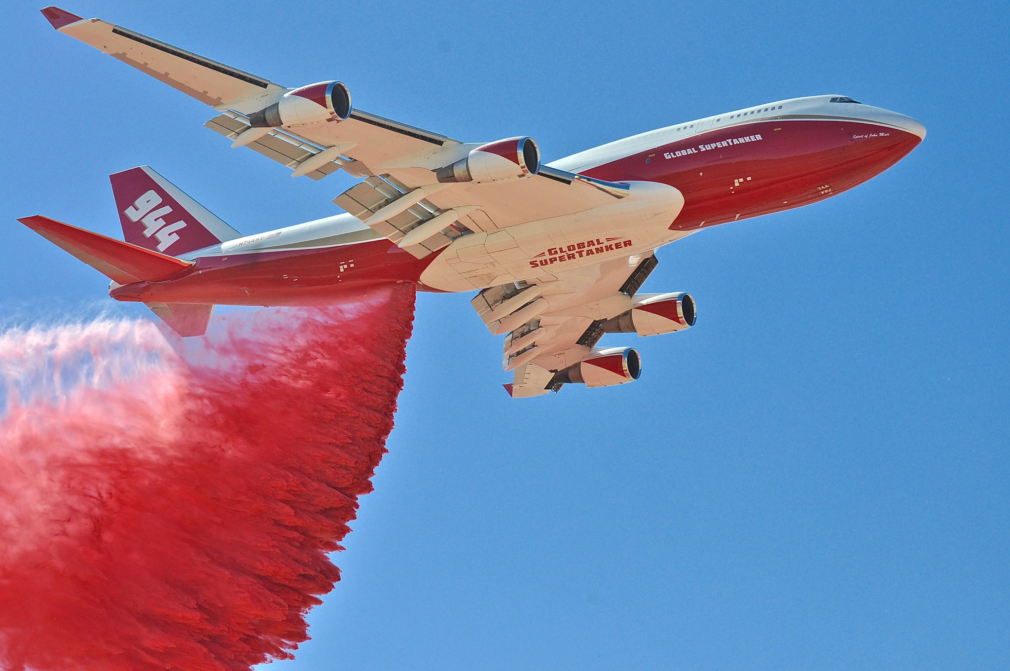 Image result for pictures of cal fire 747 tanker