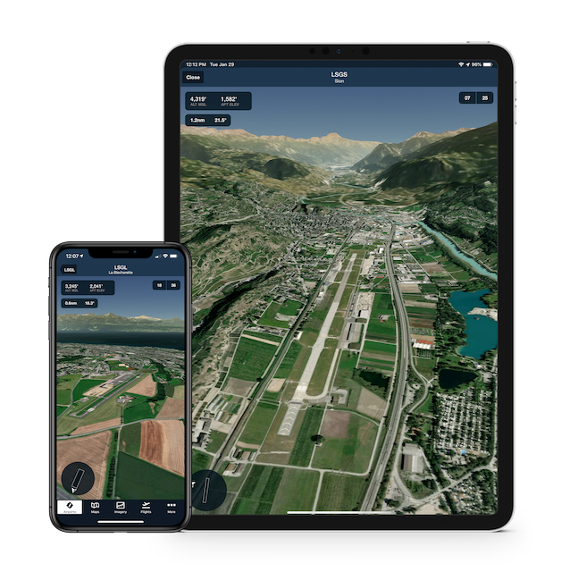 ForeFlight App Shows Airport 3D Previews