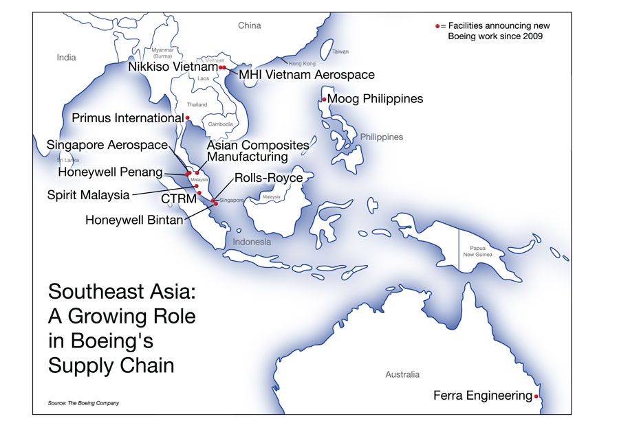Southeast Asia Manufacturing For Boeing Aircraft Booms