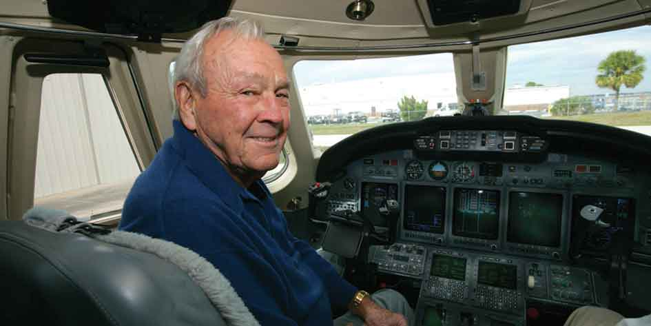 Arnold Palmer Flew, Set Records in Learjets Before Turning to Cessna