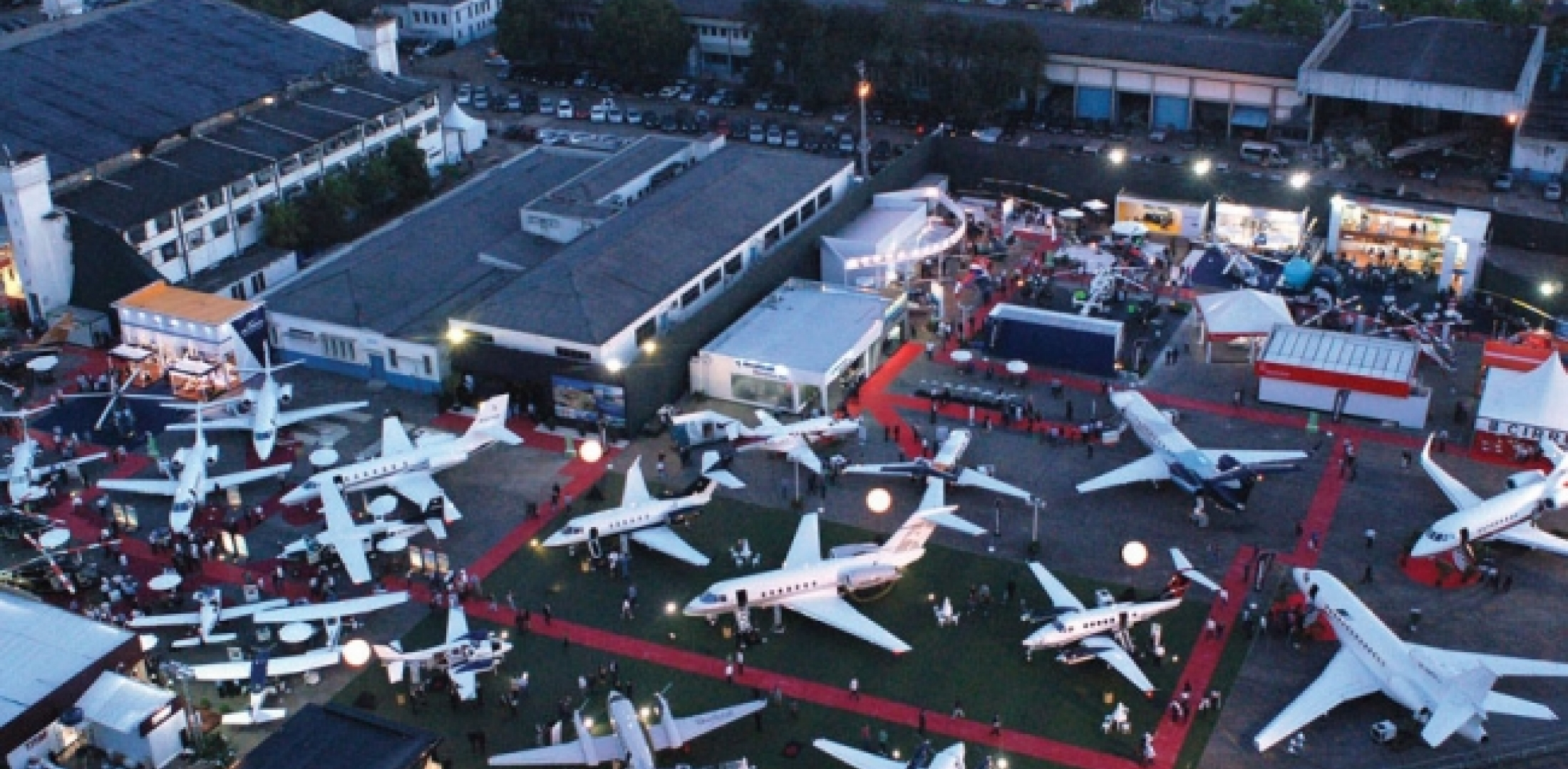 Aerial view of LABACE show