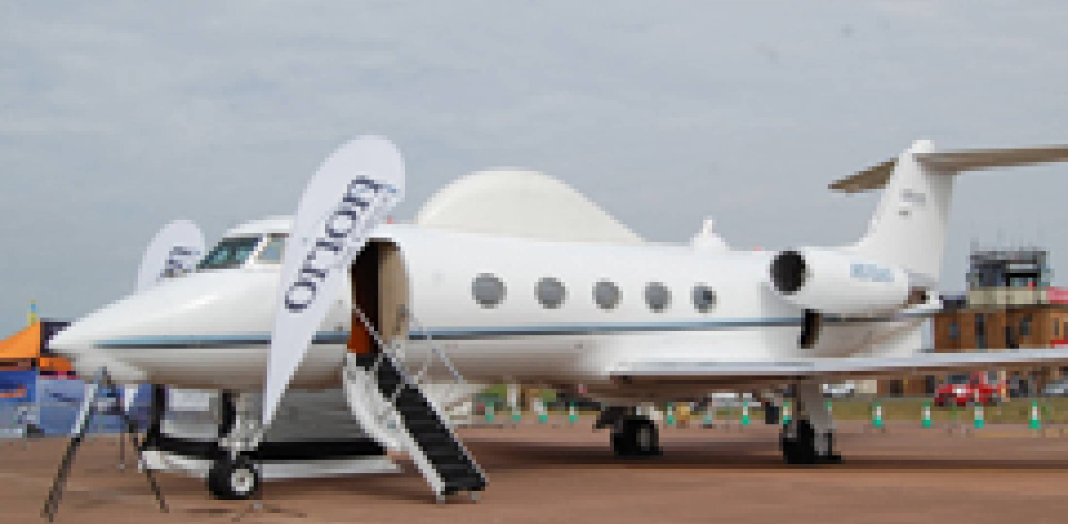 The Orion Aircraft Group has modified this Gulfstream IISP as a communication...