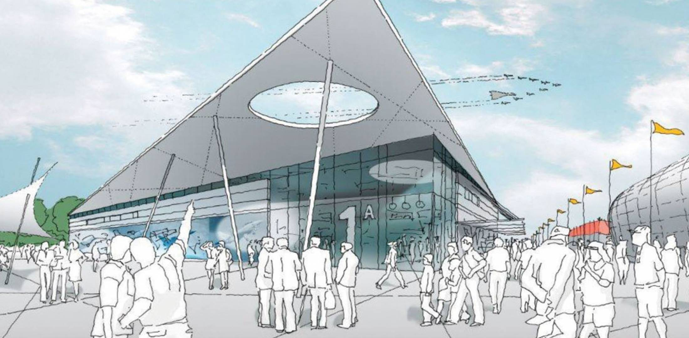 A two-phase upgrade to the Farnborough International Airshow site will see, first, a permanent chalet row, followed by a permanent exhibit hall. Phase 1 should be completed in time for next year's show. Phase 2 is scheduled for completion in time for the 2016 event.
