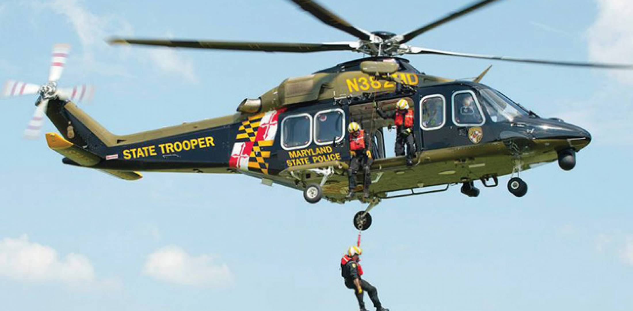 The Maryland State Police wlll fly 10 AW139s with two pilots on medevac and aerial law-enforcement support missions.