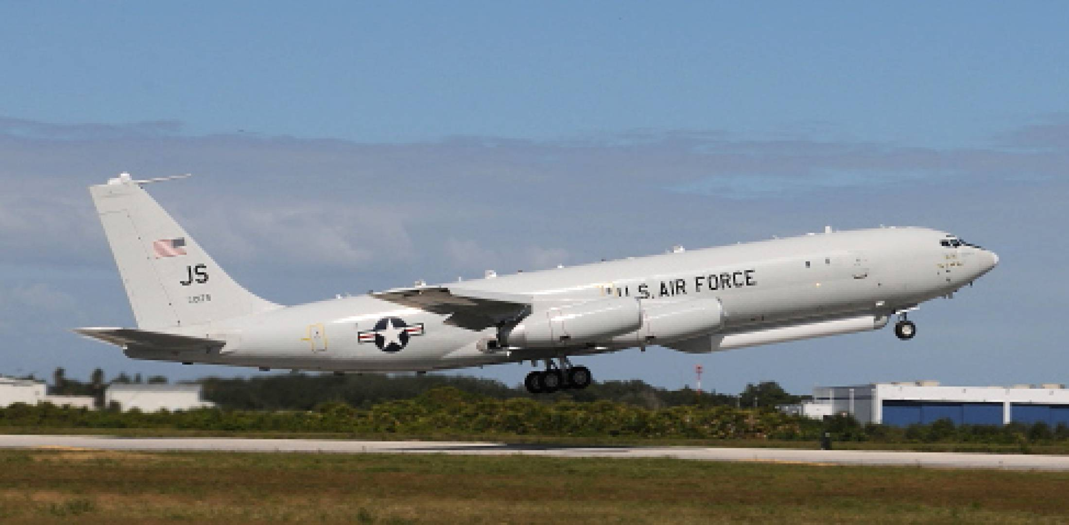 The E-8C JSTARS test bed took off for the first time on December 14 with the sta